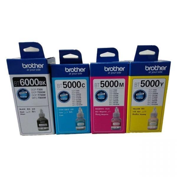 Brother BT5000 BT6000BK Genuine Ink Bottle Set