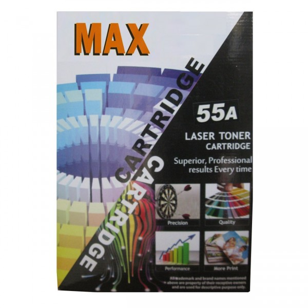 Max 55A Compatible Toner Cartridge For HP LaserJet Printer (Box Pack)