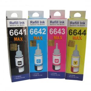 Max Black Cyan Magenta Yellow Photo Dye 4*70ML Compatible Ink Set For Epson L110 L210 L380 L485 Printer