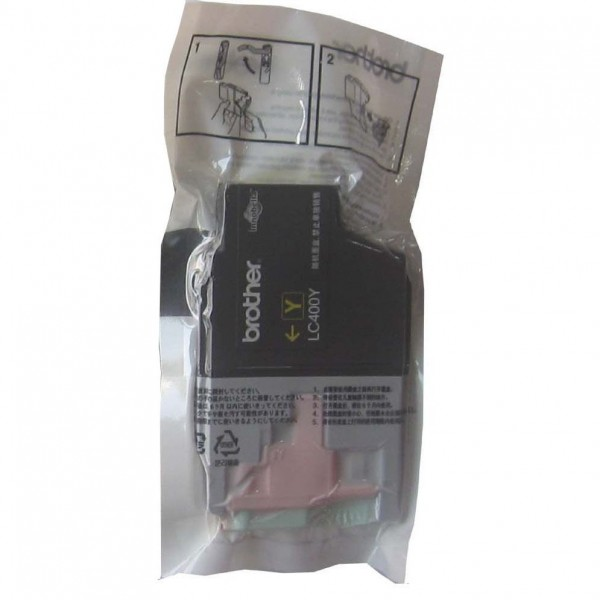 Brother LC400Y Yellow Ink Cartridge (Original OEM Pack)