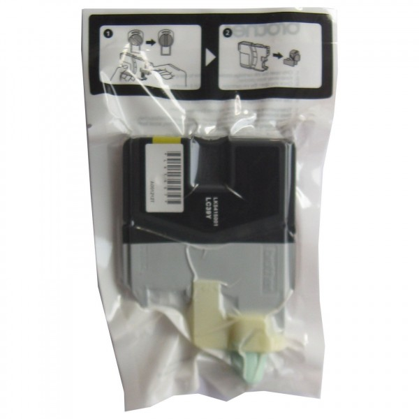 Brother LC39Y Yellow Ink Cartridge (Original OEM Pack)