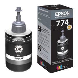 Epson T7741 Genuine Pigment Ink Bottle (Black, 140ml)