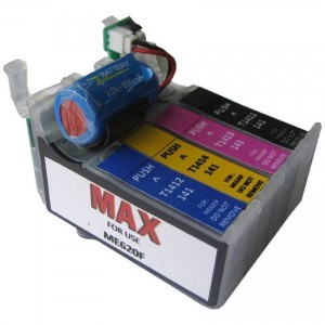 Max T1411 T1412 T1413 T1414 Refillable Cartridge With Ink For Epson ME620F Printer