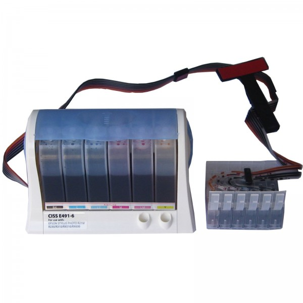 Max CISS Ink Tank Kit T049 For Epson R210, R220, R230 Printer (With 600ML Ink)
