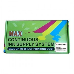 Max Empty CISS Ink Tank Kit 141 For Epson ME32, ME320 Printer