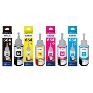 Epson 664-B 664-C 664-M 664-Y Genuine Ink Bottle Set