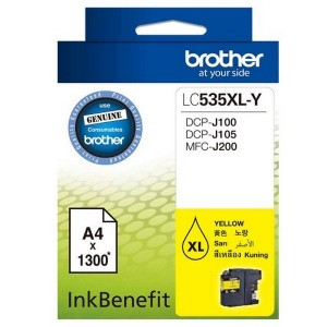 Brother LC535XL-Y Yellow Original Ink Cartridge