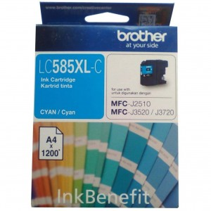 Brother LC585XL-C Cyan Original Ink Cartridge