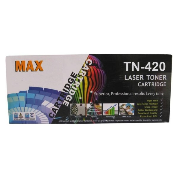 Max TN420 Compatible Toner Cartridge For Brother Laser Printer (Box Pack)