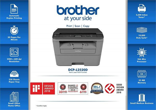 Brother DCP-L2520D Multi-Function Monochrome Multi-Function Printer