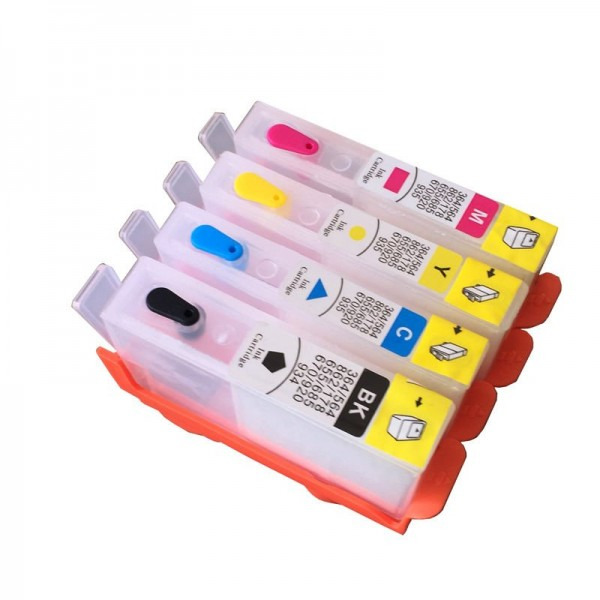 Max Empty Refillable 903 904 905 Ink Cartridge For HP Printer (4 Color)