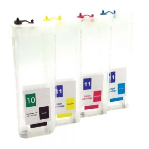Max 10/11 Refillable Ink Cartridge Set With ARC Chip For HP Designjet DJ100 DJ110 Printer (Without Ink)