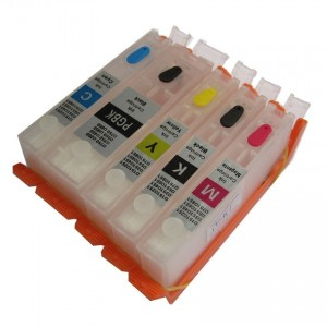 Max Empty Refillable PGI-770 CLI-771 Ink Cartridge Set For Canon MG5770 MG6870 Printer (5 Color)