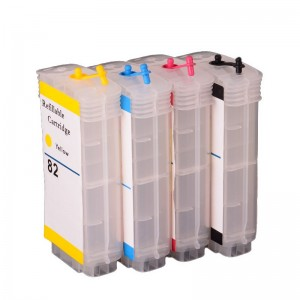 Max Empty Refillable 82 Ink Cartridge 130ML For HP Printer