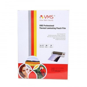 VMS Professional Thermal Lamination Pouch (85 x 110 mm) 125 Mic (100 Lamination Pouch)