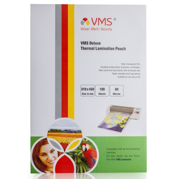 VMS Professional Thermal Lamination Pouch Film 80 Micron (310 x 450 mm)
