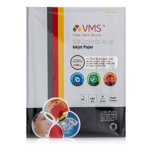 VMS Imperial Colour High Glossy Inkjet Photo Paper A4 (210 x 297mm) 185 GSM (20 Sheets)