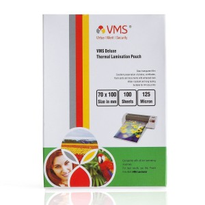 VMS Deluxe Thermal Lamination Pouch Film 125 Micron (70 x 100 mm)