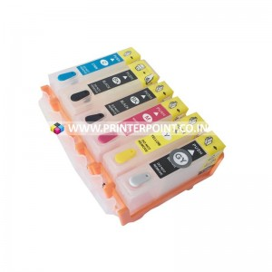 Max Empty Refillable PGI-525 CLI-526 Ink Cartridge For Canon MG6150 MG8150 MG8250 Printer (6 Color)
