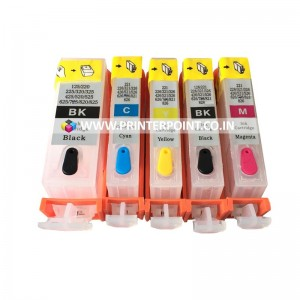 Max Empty Refillable PGI-520 CLI-521 Ink Cartridge For Canon iP3600 iP4600 MP540 MP620 MP630 MP980 MX860 MX870 Printer (5 Color)