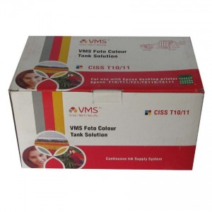 VMS CISS Ink Tank 73N For Epson T10, T11, T21 Printer (With 400ML Ink)