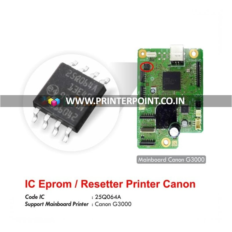 Ic Eeprom 25q064a For Canon G3000 Printer Mainboard