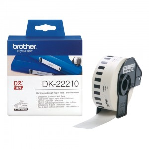 Brother (DK 22210) Continuous Length Paper Tape for QL Series Professional Label Printers