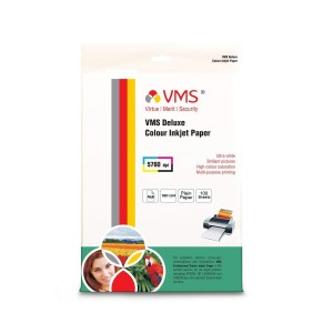 VMS Deluxe Colour High Glossy Inkjet Photo Paper 4R (102 x 152mm) 180 GSM (100 Sheets)