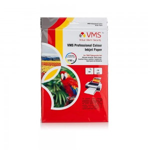 VMS Professional Colour High Glossy Inkjet Photo Paper A4 (210 x 297 mm) 210 GSM (20 Sheets)