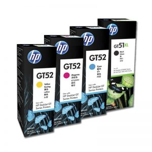 HP GT53XL Black GT52 Cyan Magenta Yellow Genuine Ink Set