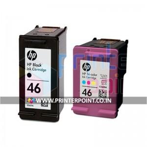 HP 46 Black & Tri-Color Original Ink Advantage Cartridges For HP DeskJet 2020hc 2520hc