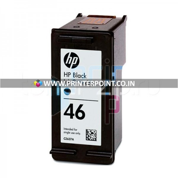 HP 46 Black Original Ink Cartridge For HP DeskJet 2020hc 2520hc (Original OEM Pack)