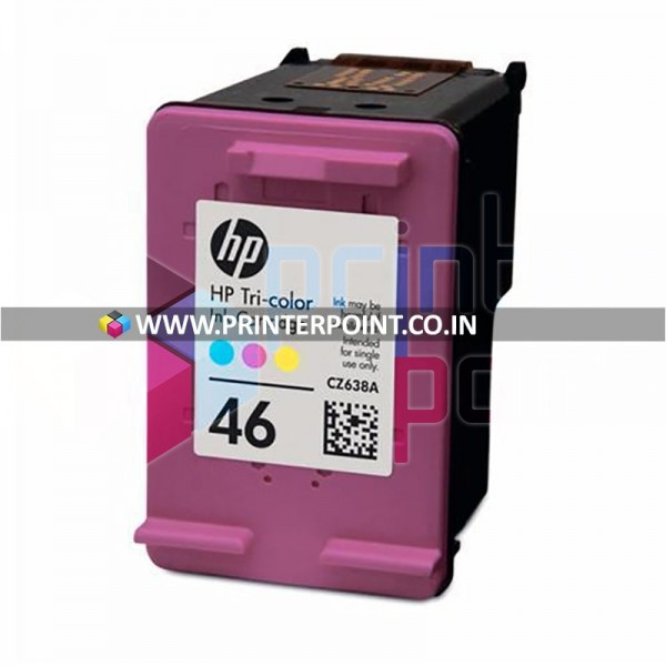 HP 46 Tri-Color Original Ink Cartridge For HP DeskJet 2020hc 2520hc (OEM Pack)