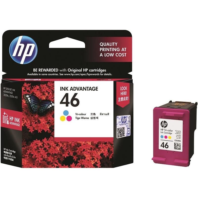 HP 46 Tri-Color Original Ink Cartridge For HP DeskJet
