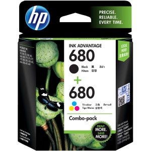 HP 680 Black & Tri-Color Original Ink Advantage Cartridges (X4E78AA)