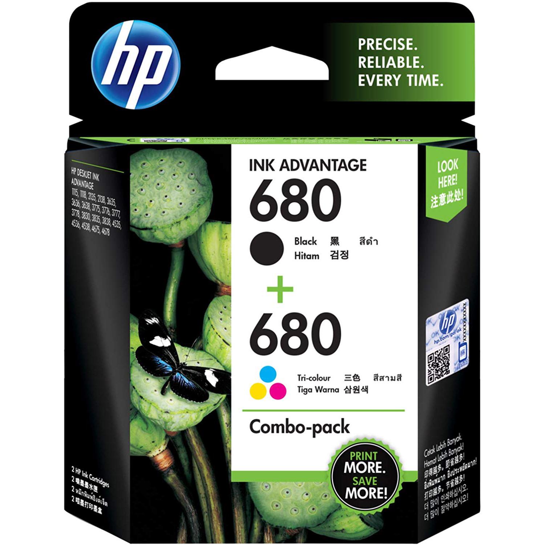 HP 680 Black & Tri-Color Original Ink Advantage Cartridges (X4E78AA)
