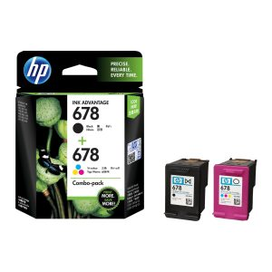 HP 678 Black & Tri-Color Original Ink Advantage Cartridges (L0S24AA)