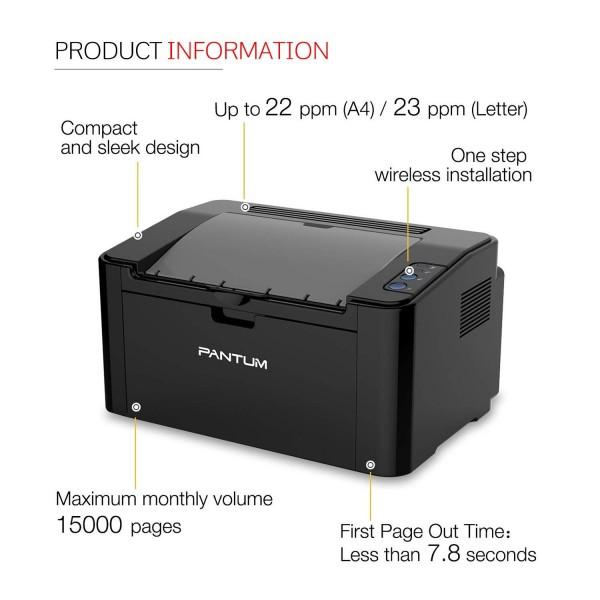 Pantum P2500 Monochrome Single Function LaserJet Printer