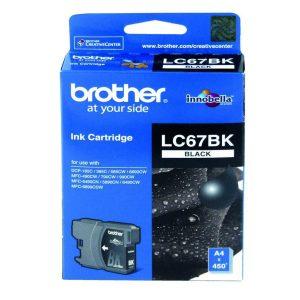 Brother LC-67BK Black Original Ink Cartridge (Box Pack)