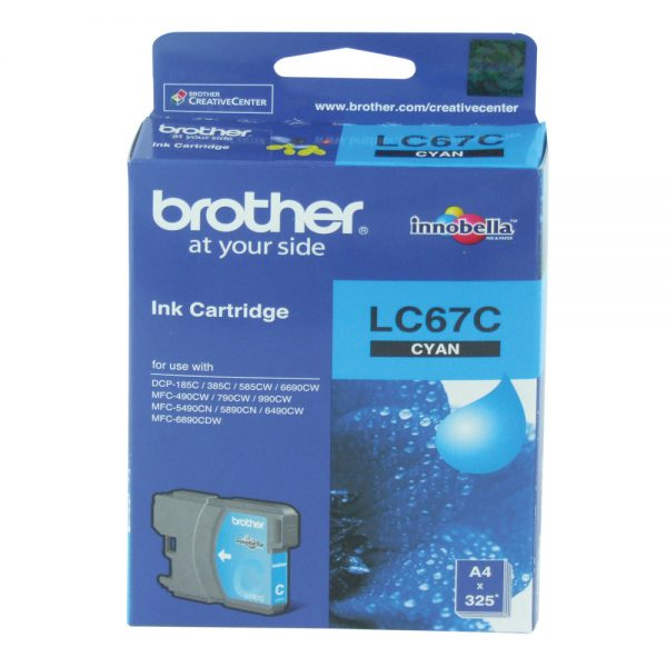 Brother LC-67C Cyan Original Ink Cartridge (Box Pack)