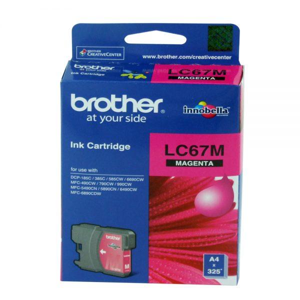 Brother LC-67M Magenta Original Ink Cartridge (Box Pack)