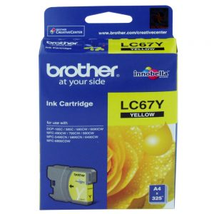 Brother LC-67Y Yellow Original Ink Cartridge (Box Pack)
