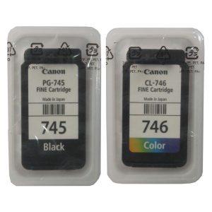 Canon PG-745 CL-746 Black & Tri-Color Original Ink Cartridges