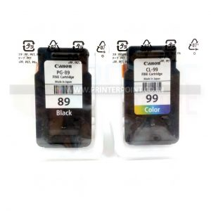 Canon PG-89 CL-99 Original Black & Tri-Color Ink Cartridge (OEM Pack)