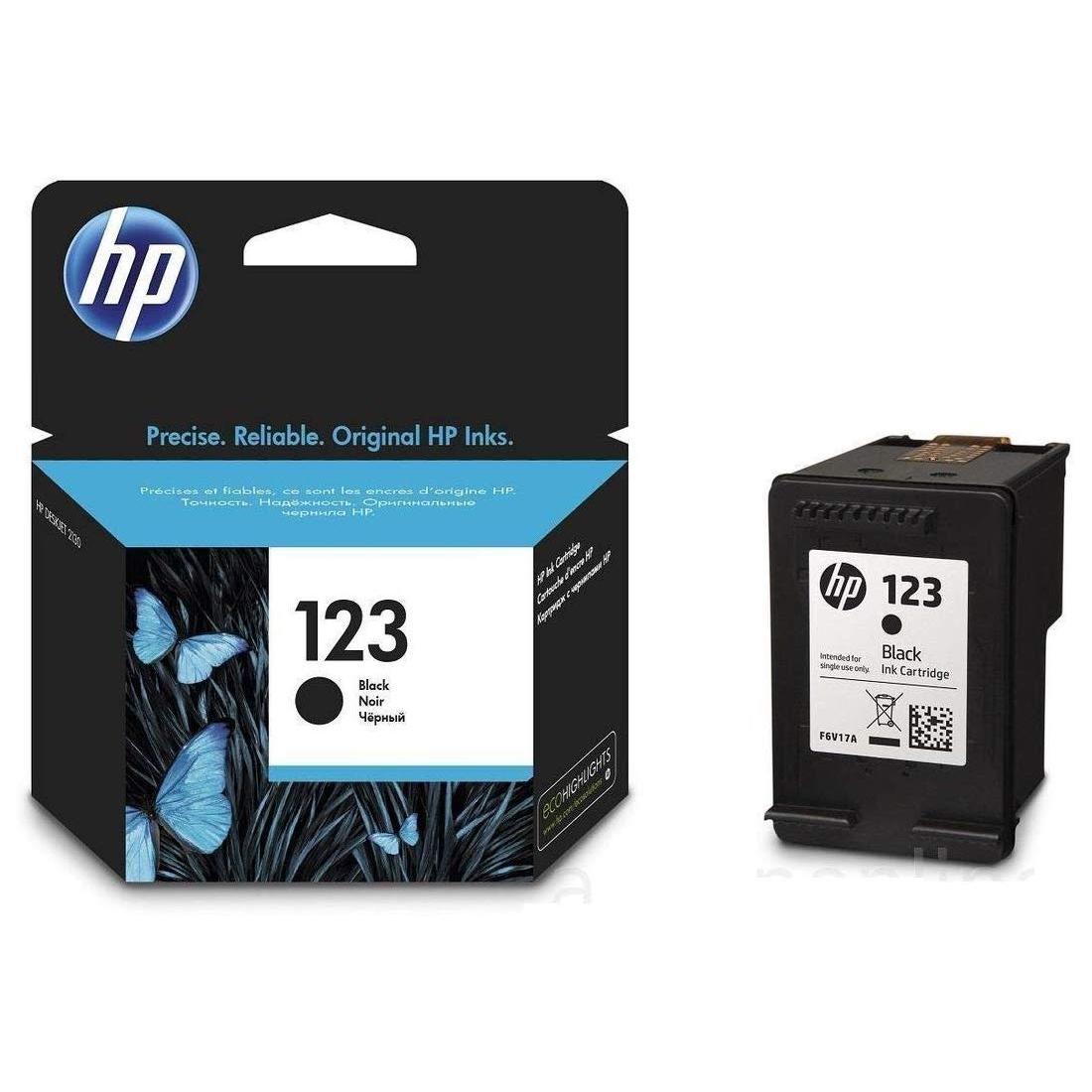 HP 123 Black Noir Ink Cartridge For HP Deskjet 2130 2620 ...