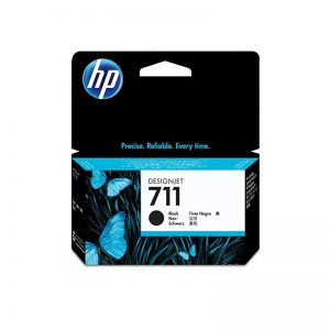 HP 711 Black Noir Ink Cartridge For HP Designjet T120 T520 Printer (3WX00A)