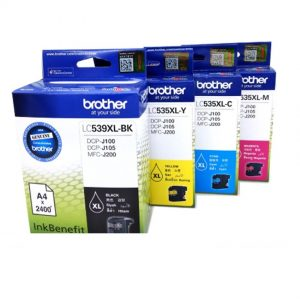 Brother LC539XL Black and LC535XL Cyan / Magenta / Yellow Original Ink Cartridge Set