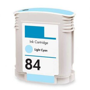 HP 84 Light Cyan Original Ink Cartridge (OEM Pack)