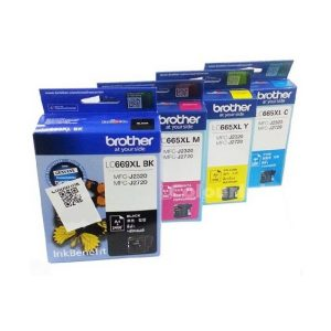 Brother LC669XL Black and LC665XL Cyan / Magenta / Yellow Original Ink Cartridge Set (Box Pack)