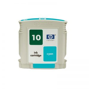 HP 10 Cyan Original Ink Cartridge Oem Pack (C4841A)